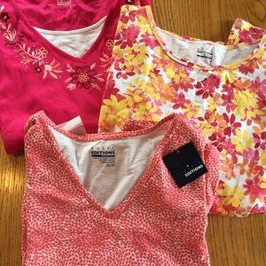 NWT Basic Editions Plus size 3X shirt bundle